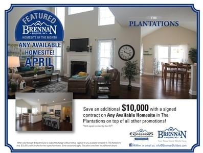 April Homesite of the Month is in Plantations