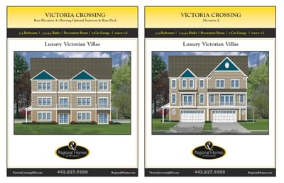 Victoria Crossing A custom home floor plan by Regional Homes of Maryland
