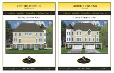 Victoria Crossing B custom home floor plan by Regional Homes of Maryland