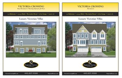 Victoria Crossing C custom home floor plan by Regional Homes of Maryland