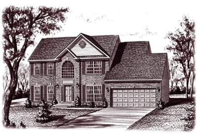The Aspen custom home floor plan by Regional Homes of Maryland