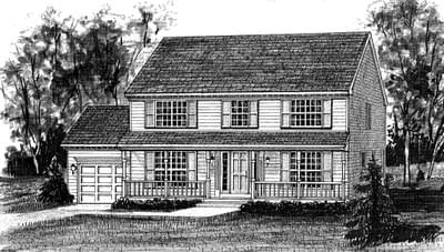 The Banbury II custom home floor plan by Regional Homes of Maryland