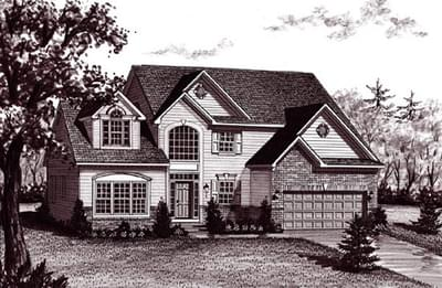 The Bennett custom home floor plan by Regional Homes of Maryland