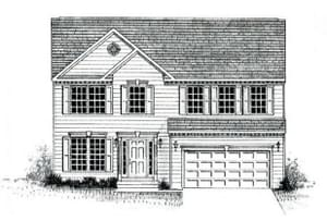 Elevation 1. 2,317sf New Home
