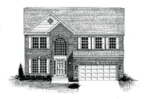 Elevation 5 w/ optional brick front. The Austin New Home Floor Plan