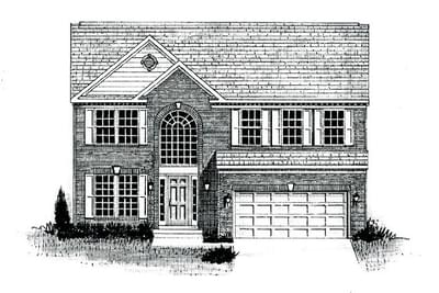 The Austin custom home floor plan by Regional Homes of Maryland