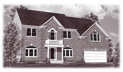 The Gordon custom home floor plan by Regional Homes of Maryland