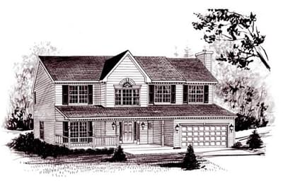 The Mayfair custom home floor plan by Regional Homes of Maryland