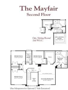 Second Floor. The Mayfair New Home Floor Plan