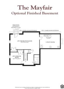Lower Level. The Mayfair New Home Floor Plan
