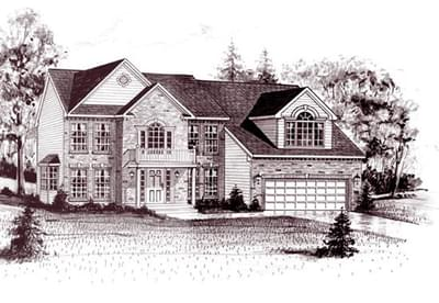 The Courtney custom home floor plan by Regional Homes of Maryland