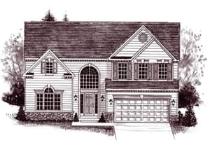 Elevation 7. The Tyler Home with 4 Bedrooms