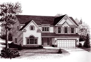 Elevation 6. The Tyler Home with 4 Bedrooms
