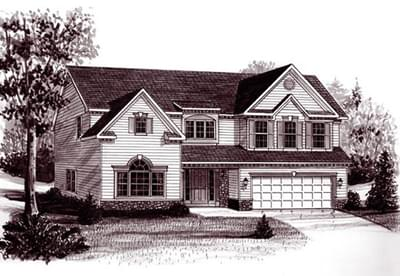 The Tyler custom home floor plan by Regional Homes of Maryland