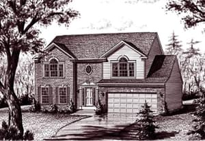 Elevation 4. The Tyler Home with 4 Bedrooms