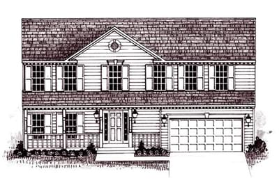 The Birch custom home floor plan by Regional Homes of Maryland