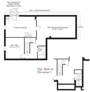 Lower Level. The Birch New Home Floor Plan