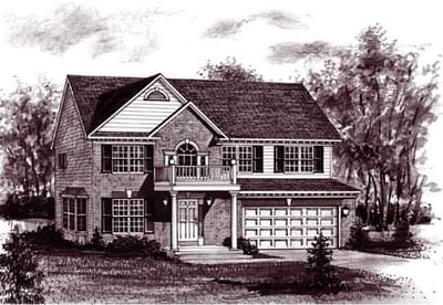 The Patrick custom home floor plan by Regional Homes of Maryland
