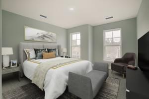 Bedroom #2. Victoria Crossing B New Home Floor Plan