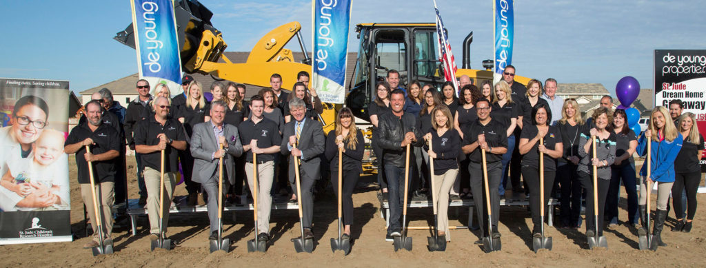DeYoung Properties Kicks Off Lucky 11 – Breaks Ground On Their 11th St. Jude Dream Home!