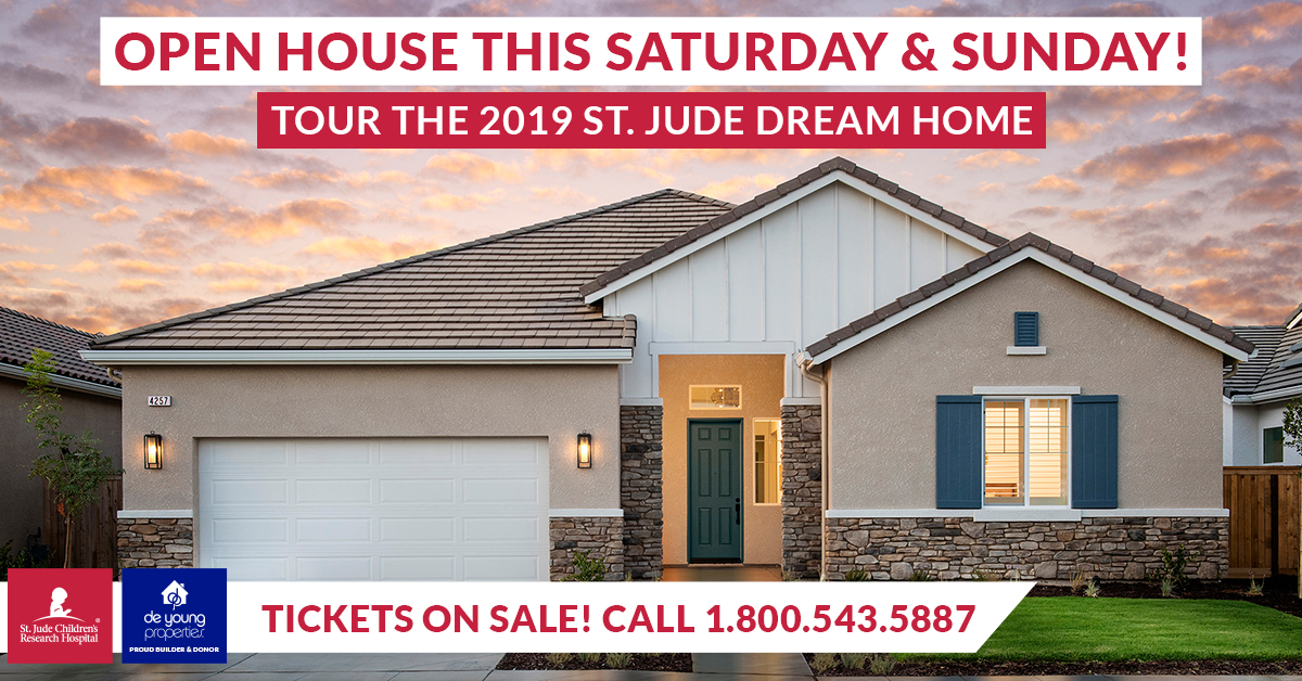 Tour The 2019 St. Jude Dream Home®! Call (800) 543-5887 Today And Reserve Your Ticket!