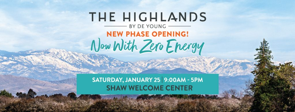 Save the Date! New Zero Energy Homesites Releasing NEXT SATURDAY at The Highlands by De Young!