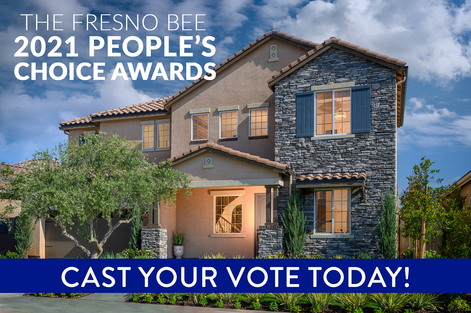 De Young Properties Would Appreciate Your Vote as The Fresno Bee People's Choice Best New Home Builder!