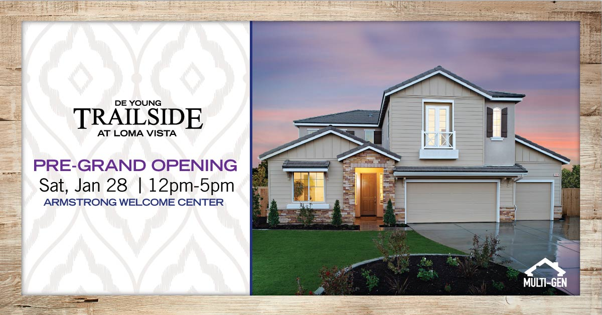 Pre-Grand Opening Event On Saturday For Newest DeYoung Community – DeYoung Trailside at Loma Vista!