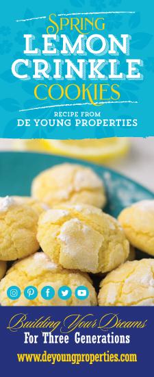Spring Lemon Crinkle Cookies Recipe from DeYoung Properties!