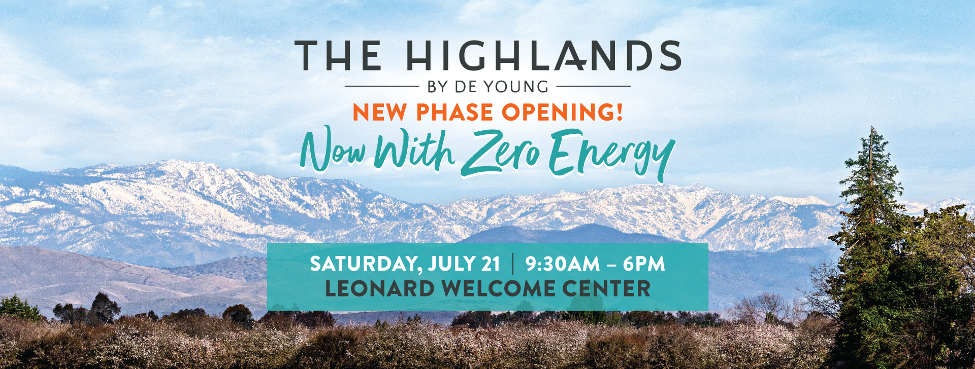 New Zero Energy Homesites Releasing THIS SATURDAY at The Highlands by De Young!