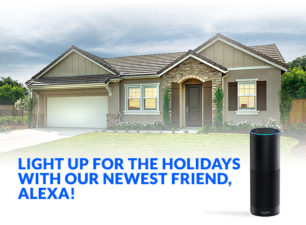 Light Up Your DeYoung Home For The Holidays With Our Newest Friend, Alexa!
