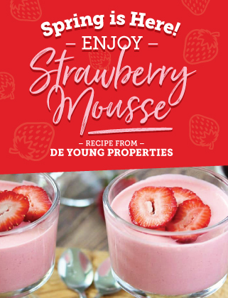 Strawberry Mousse Recipe from DeYoung Properties!
