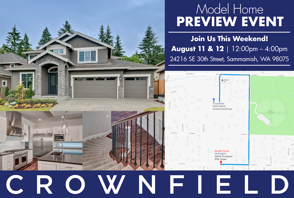 Sammamish Model Home Preview Event for Crownfield Community