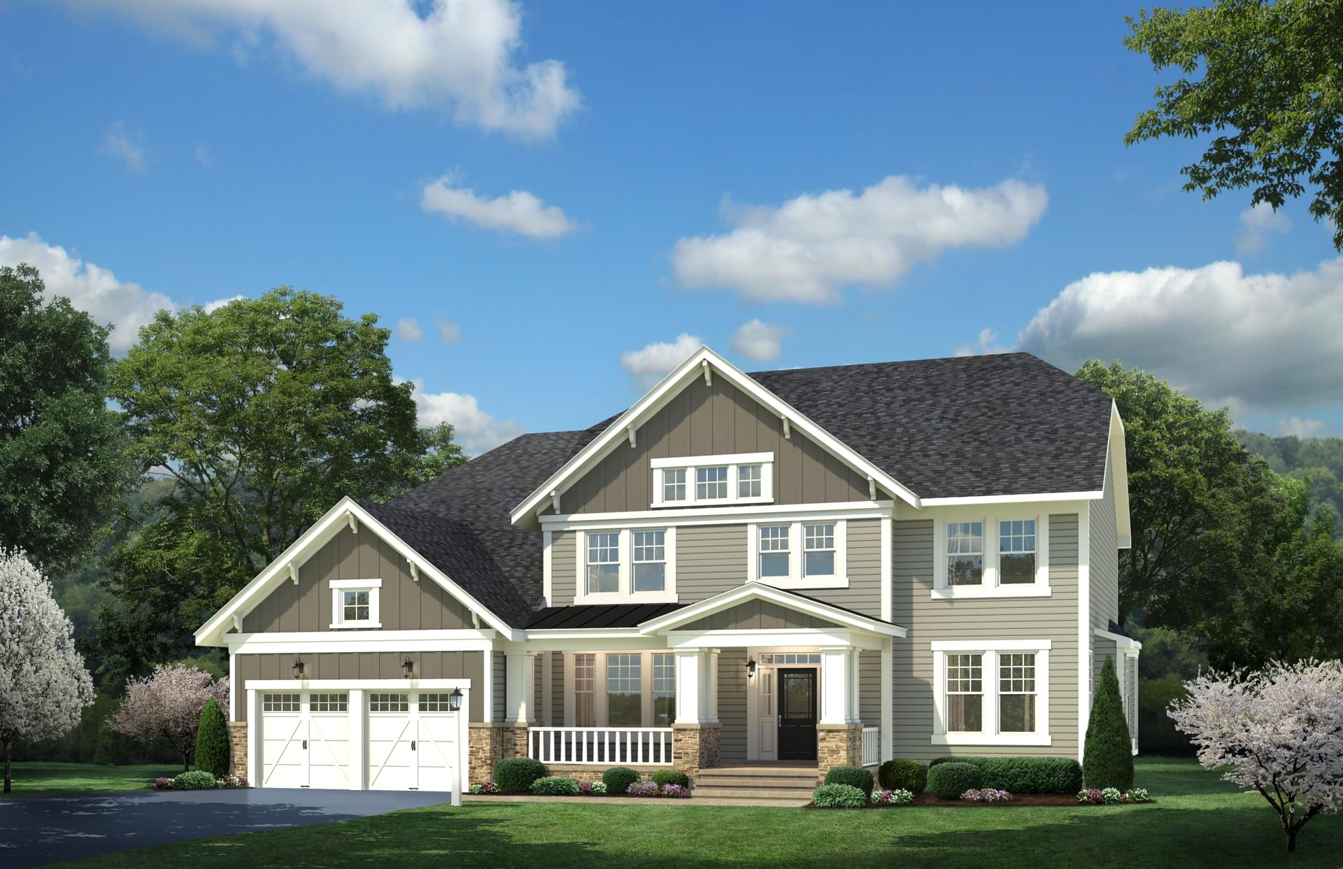 The whittington craftsman new home in crownsville md for Md home builders